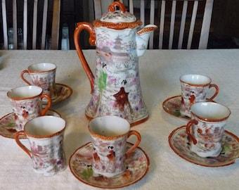 Geisha Girl Japanese Tea set