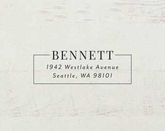 Return Address Stamp, Self Inking Address Stamp, Modern Stamp, Custom Stamp, Personalized Stamp, Wedding Stamp, Family Stamp - Style #74B