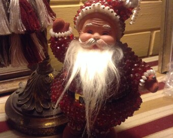 Vintage Mr Santa Claus Beaded