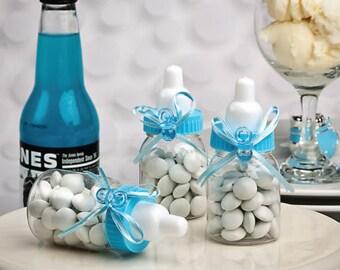 48 Blue Baby Bottle Favors - Set of 48