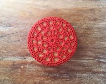 Fall-Winter Crochet Coasters | Set of 4