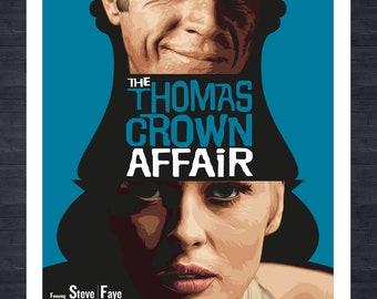 STEVE MCQUEEN - Thomas Crown Affair fictional movie poster