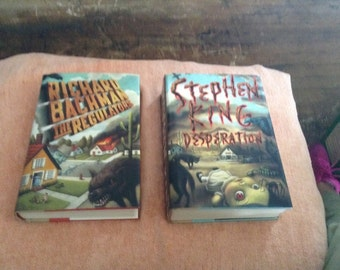 The Regulators and Desperation by Stephen King, TRUE 1st edition/1st prtg hrdbk