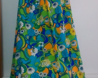 Flower Power Retro Skirt M Medium