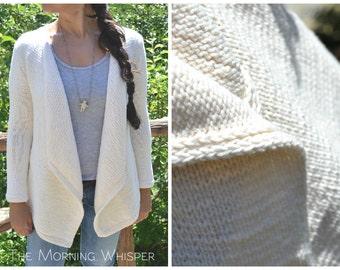 Summer Cardigan - Easy summer / autumn cardigan, Hand Knitting Pattern, blazer jacket