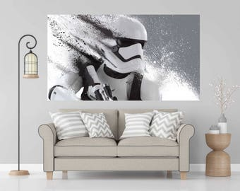 """Storm Trooper Star Wars color Wall Decal Sticker Living Childrens Kids Room 27"""" by 48"""""""