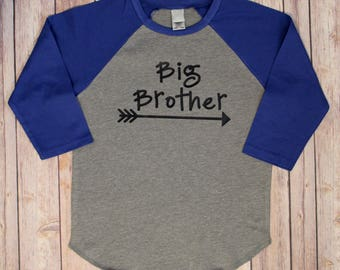 Big Brother Shirt, Big Brother, Pregnancy Reveal Photo Prop, Big Brother raglan Shirt, Big Brother Shirt, Big Brother