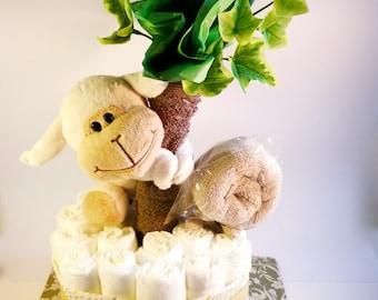 Cheeky Monkey Nappy Cake