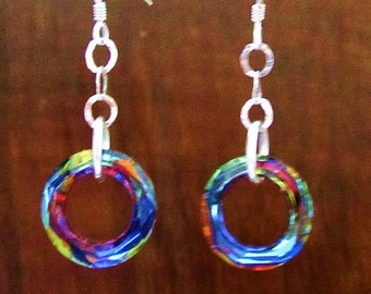 Sterling Silver Cosmic Volcano Earrings