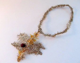 Vintage Victorian Tinsel Ornament/ Star Necklace Tinsel Ornament