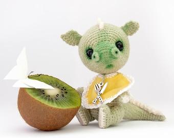 PATTERN - Miniature Crochet Dragon Amigurumi Toy baby dragon OOAK