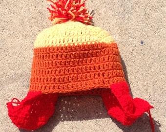 Orange, yellow, and red hat - nerd hat - gerk hat - scfi hat - free shipping