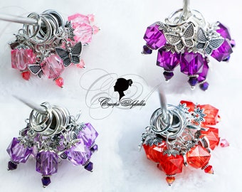 """Knitting Markers - """"Pomegranate"""" - Handmade Stitch Markers for knitting (6 PCs.) ring 12 mm."""