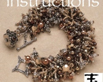 Fringe bracelet instructions in pdf -TUTORIAL ONLY. Tutorial, beadwork, fringe work, intermediate instructions. Shaggy bracelet.