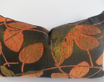 Sale 12x20 Pillow cover, Olive green pillow cover, Pillow lumbar, Orange pillow cover, Green Pillow cover, Orange lumbar