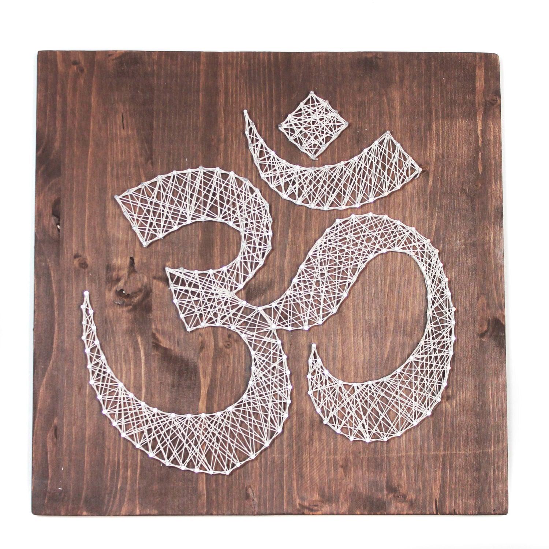 Om wall art meditation sign string art omkara aumkara diy string this is a digital file solutioingenieria Images