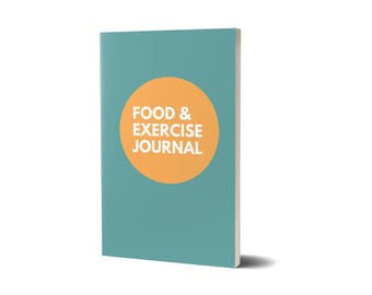 Food and Exercise Journal, Teal Cover Design, Diet Planner, 47A1977961894