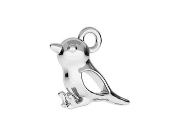 Sparrow Charm- Sterling Silver (925) - 13mm