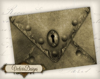 Instant download Steampunk Envelopes Printable Envelopes instant download digital collage sheet VD0292