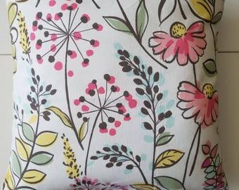 Floral Designer Pillow Cover- Decorative Pillow Cover- Throw Pillow Cover
