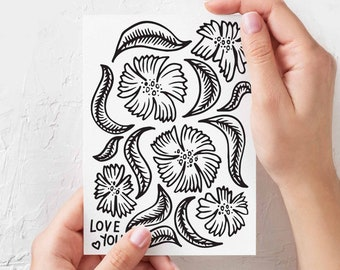 Love You - Illustrated Greeting Card