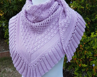 PAPER Pattern + PDF: Knitted Shawl Wrap Cornubia Shawl