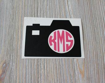 Camera Monogram Car - Monogram Camera Car Decal - Monogram Car Decal - Car Decal - Camera Decal - Photographer Decal - Monogram Camera