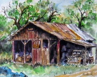 Home Decor - The Old Barn - art print