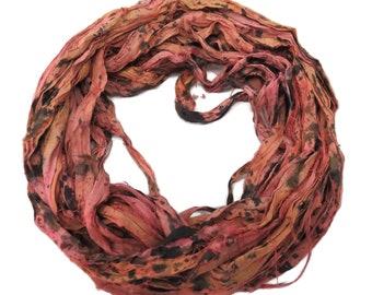 New! Sari Silk Tye Dyed Ribbon, 100g