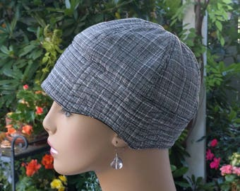 Womens Chemo Hat Cancer Cap Hair Loss Hat Cotton Reversible Made in the USA  MEDIUM