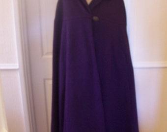Amazing Authentic Vintage Tailored Wool Cape sz 10/12/14