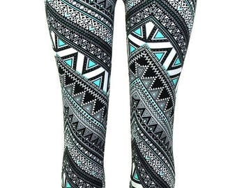 Women's Line Printed Patterns Leggings