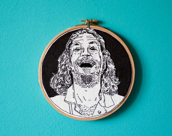 The DUDE Big Lebowski, hand embroidery in frame