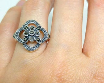 Silver 925/ Vintage Marcasite Ring
