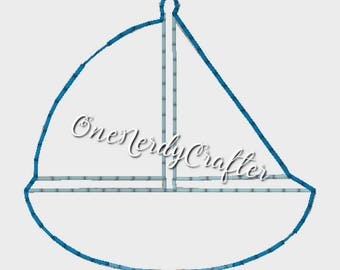 Sailboat Flasher Feltie Embroidery Digital Design File