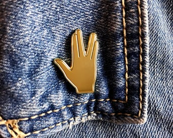 Star Trek Pin, Vulcan Salute Pin, SALE, Star Trek, Spock Hand Pin, Star Trek Gift, Live Long and Prosper Pin, LLAP, Pin, Enamel Pin, Pin