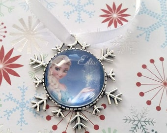 Personalized Frozen Christmas Ornament - Snowflake Ornament