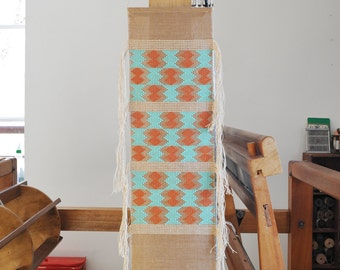Handwoven wall hanging/ Cotton & Linen/ Weaving