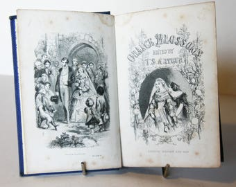 Orange Blossoms 1860s Vintage Antique Book Hardback old book antique book victorian