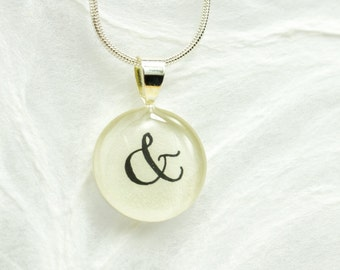 Ampersand Necklace, Ampersand Pendant & And Symbol Jewelry, You and Me Jewelry, Anniversary Gift, Best Friends Gift, Handmade Handwritten
