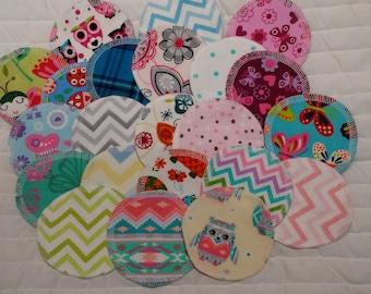 22 Cotton Facial Rounds, Makeup Remover, Reusable, Eco Friendly, Various Designs