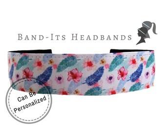 Hawaiian Headband - Thick Headband - Floral Headband - Running Headband - No Slip Headband - Yoga Headband - Running Headband - Hairband