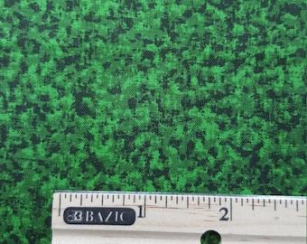 16 Bit Fabric Fabric, Fat Quarter Only, FQ, Grass Fabric, Pixelated Fabric, Pixels, Green & Black, Texture Fabric, Quilting Fabric,