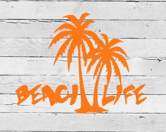 Beach Life Decal - Beach Decal - Yeti Tumbler -  Vinyl Decal