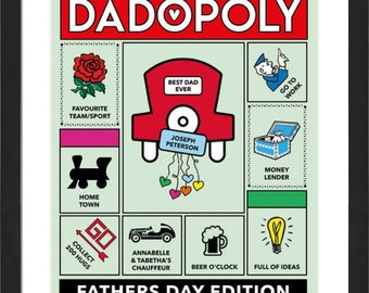 Dadopoly - personalised with your dads favourite things