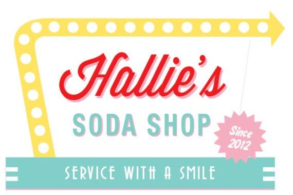 Soda Shop Retro 50s Diner Birthday Sign PINK 20x30