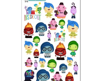 Inside Out Stickers - Disney Planner Stickers