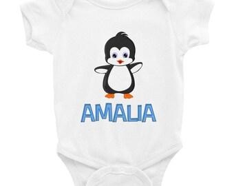 Amalia Penguin Infant Bodysuit