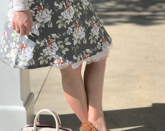 Bambi floral dress inspired by spring and new beginnings!