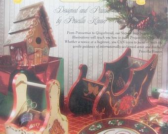 Priscilla Paints Christmas Tole Painting Book